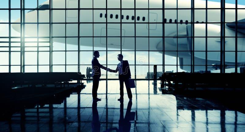 Concepto del terminal de aeropuerto del viaje de negocios del aeropuerto internacional foto de archivo libre de regalías