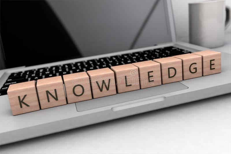 Concepto del texto del conocimiento stock de ilustración