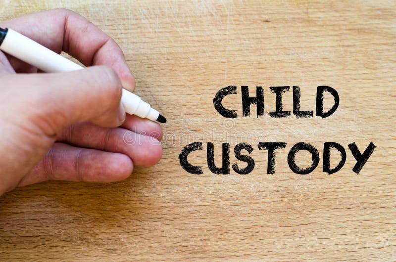 Concepto del texto de la custodia de los hijos imagen de archivo