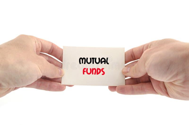 Concepto del texto de los fondos mutuos foto de archivo libre de regalías