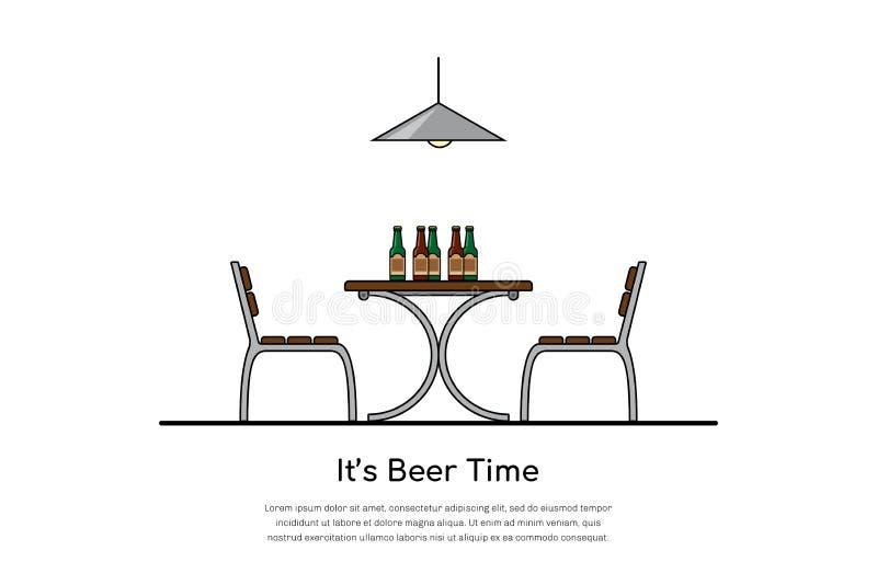 Concepto del tiempo de la cerveza libre illustration