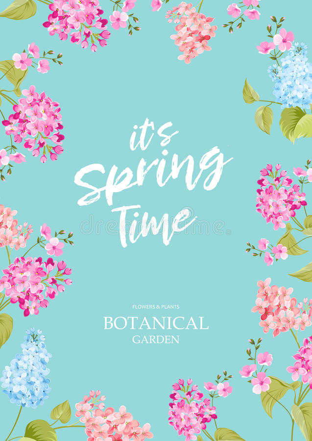 Concepto del tiempo de primavera ilustración del vector