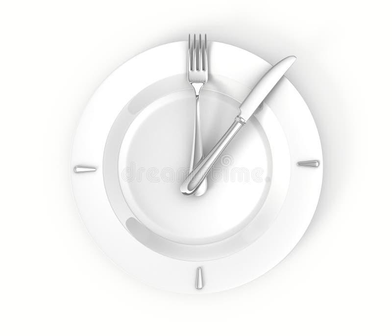 Concepto del tiempo del almuerzo stock de ilustración