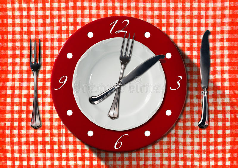 Concepto del tiempo del almuerzo libre illustration