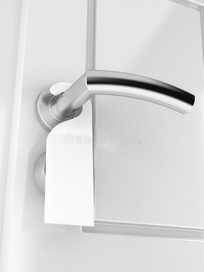 Concepto del tirador de puerta ilustración del vector