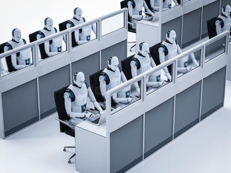 Concepto del trabajador de la automatización ilustración del vector