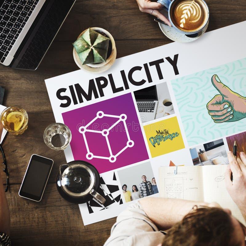 Concepto del trabajo de la innovación de la simplicidad del café imagenes de archivo