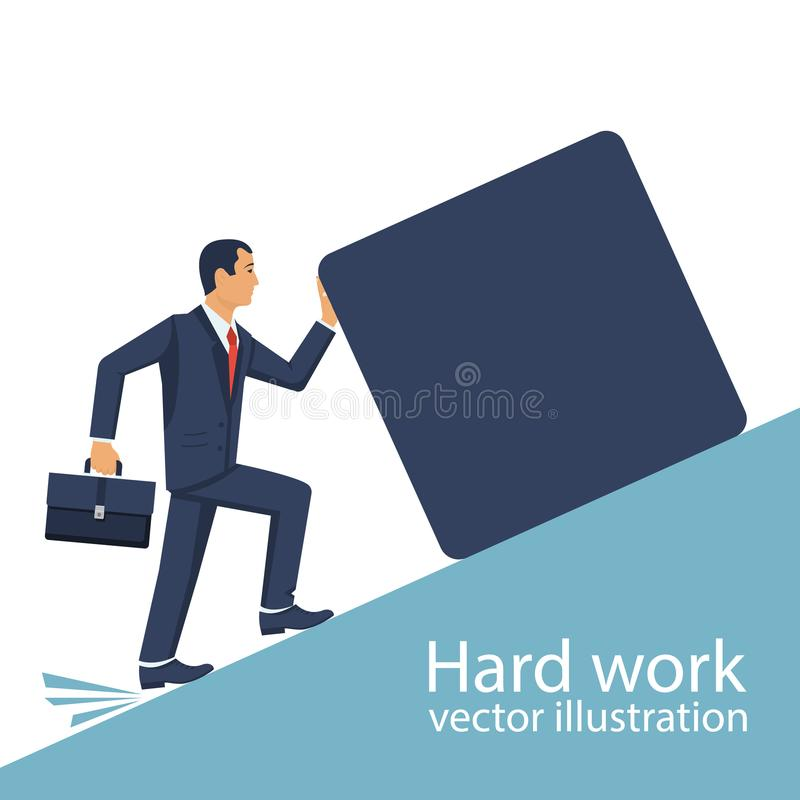 Concepto del trabajo duro ilustración del vector