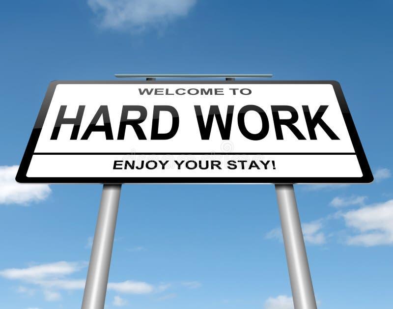 Concepto del trabajo duro. stock de ilustración
