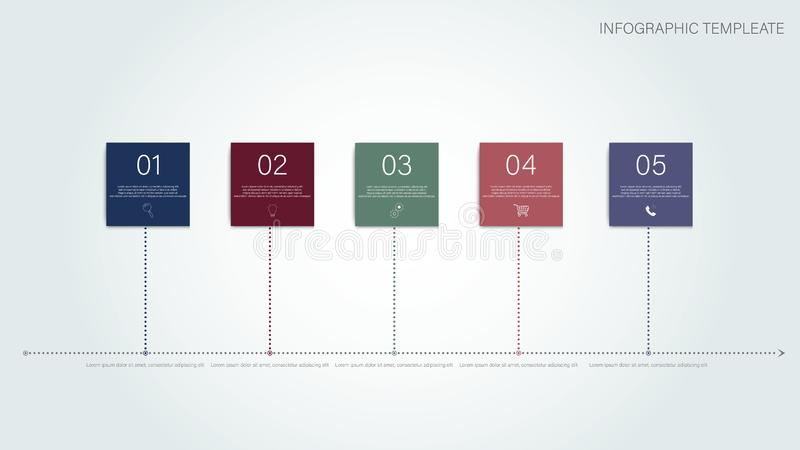 Concepto del trabajo en equipo del éxito empresarial Hombres de negocios del concepto corporativo del éxito 3 paso Infographic Co libre illustration