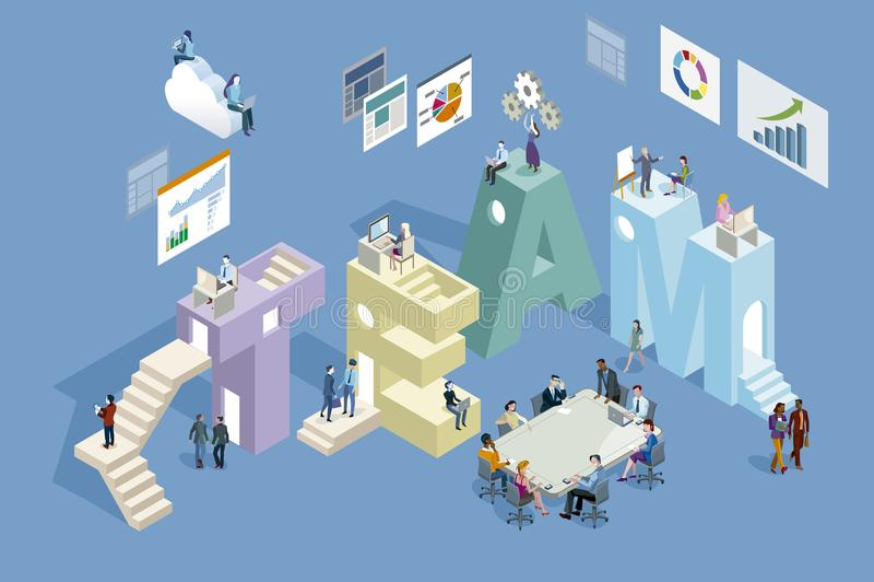 Concepto del trabajo en equipo ilustración del vector