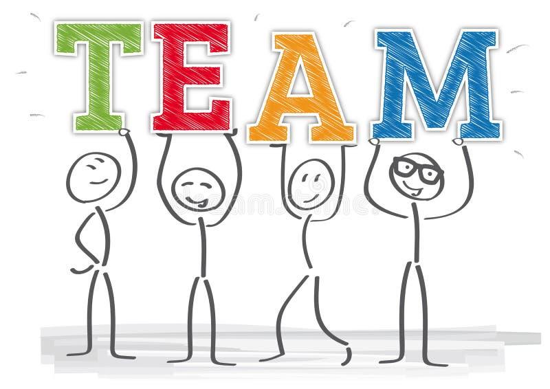 Concepto del trabajo en equipo libre illustration
