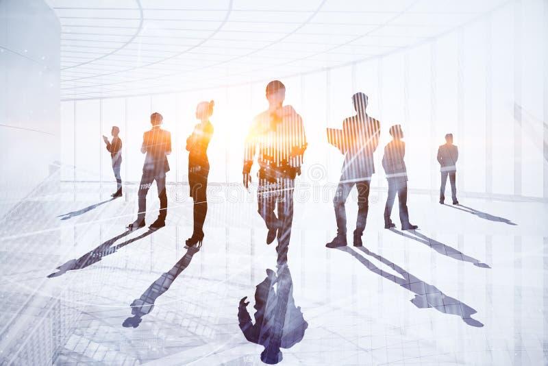 Concepto del trabajo en equipo, de la reunión y de la tecnología fotos de archivo
