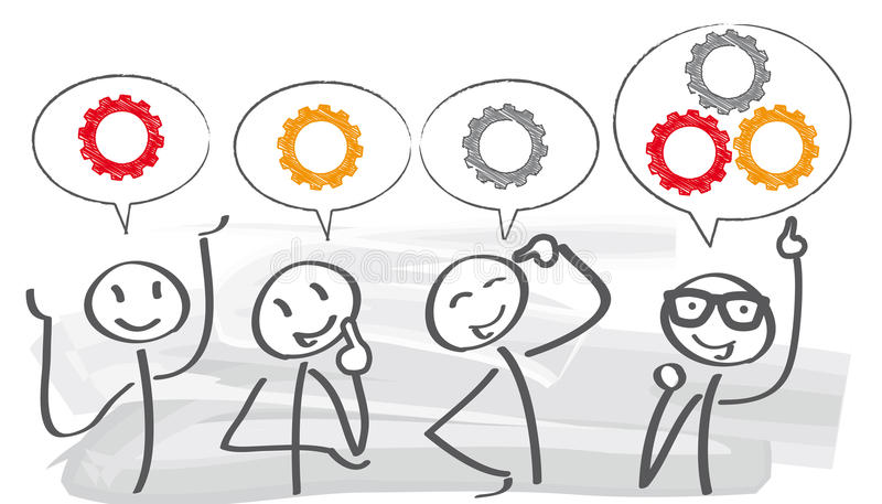 """Concepto del trabajo en equipo del †de la reunión de reflexión """" stock de ilustración"""