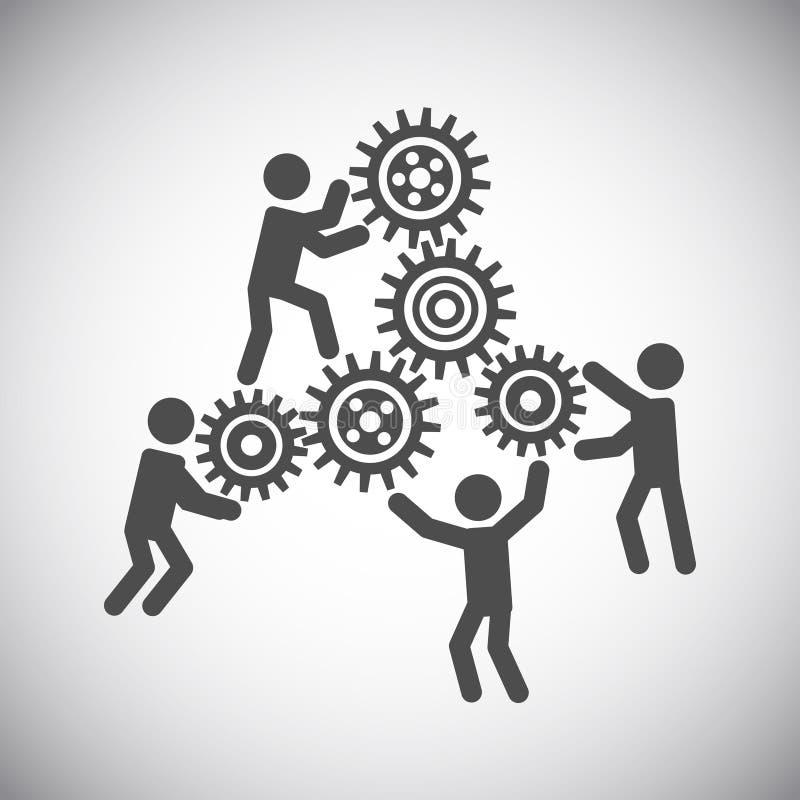 Concepto del trabajo en equipo del engranaje stock de ilustración