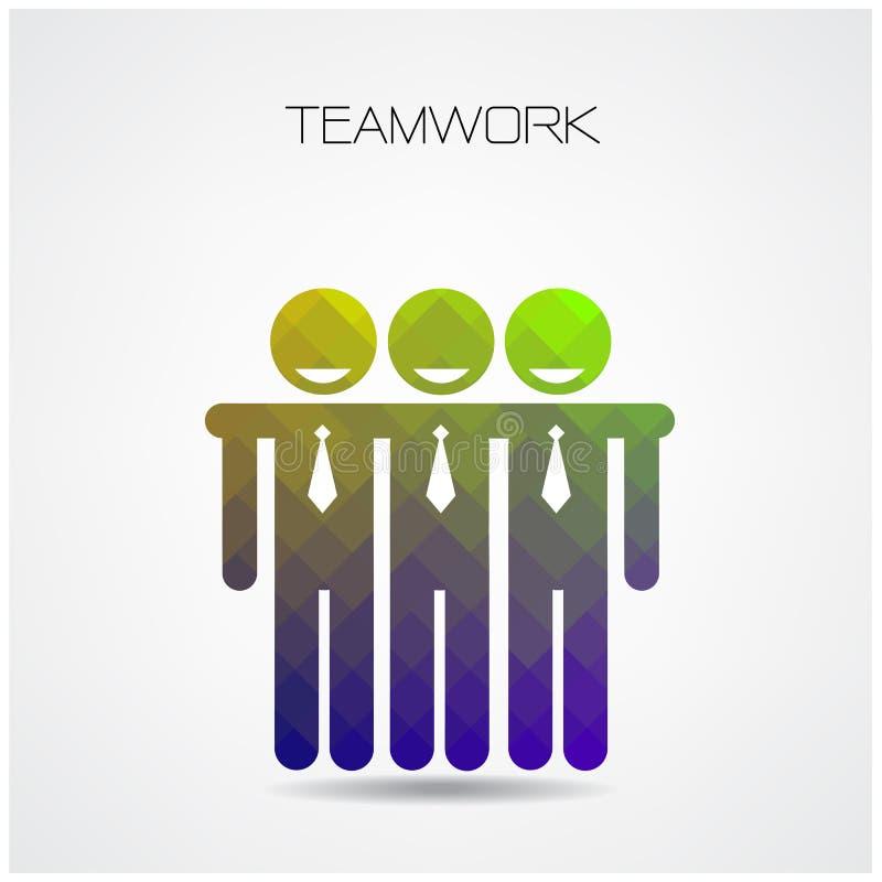 Concepto del trabajo en equipo, muestra de la sociedad, muestra del hombre de negocios, conce de la gente stock de ilustración