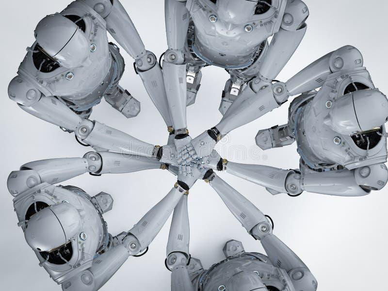 Concepto del trabajo en equipo del robot ilustración del vector