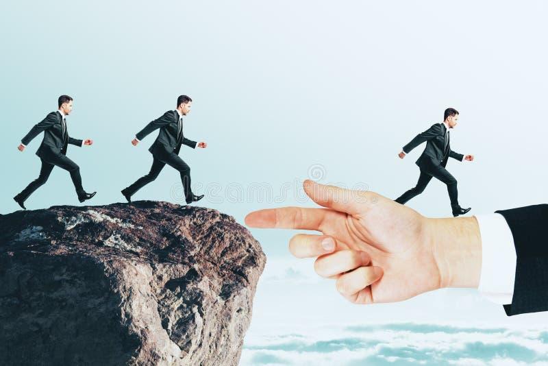 Concepto del trabajo en equipo y del riesgo imagen de archivo