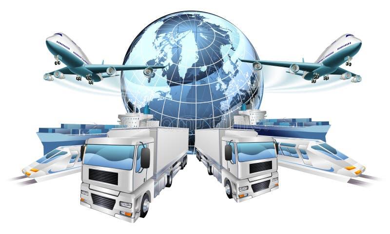 Concepto del transporte de logística stock de ilustración