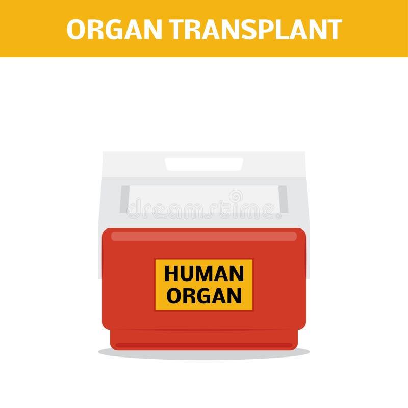 Concepto del trasplante del órgano libre illustration