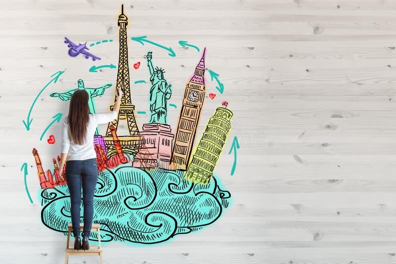 Concepto del turismo ilustración del vector