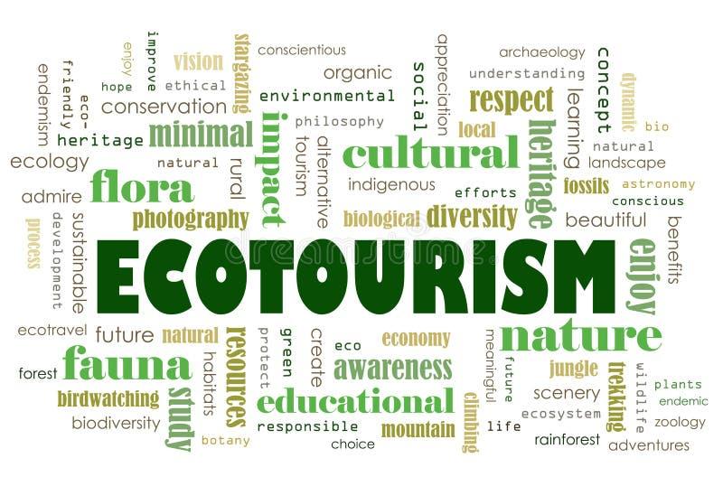 Concepto del turismo ecológico ilustración del vector