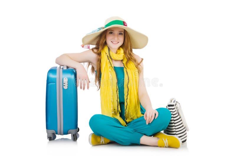 Concepto del turismo que viaja aislado foto de archivo libre de regalías