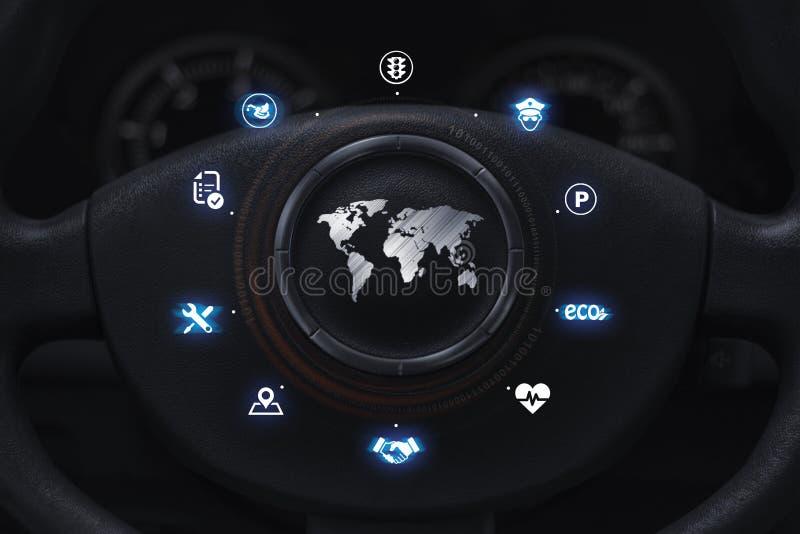 Concepto del usuario del automóvil ilustración del vector