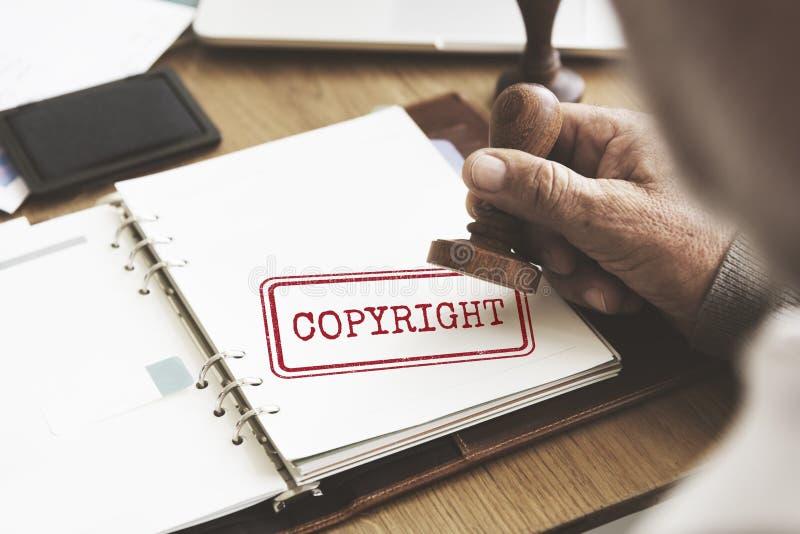 Concepto del valor de la marca registrada de la patente de la licencia del diseño de Copyright fotografía de archivo