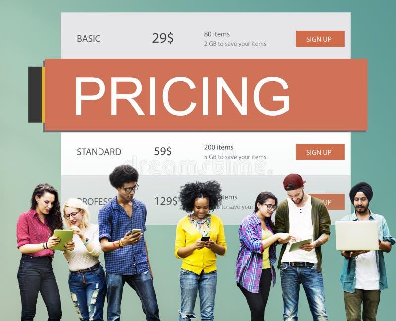 Concepto del valor de la promoción del precio del precio de mercado fotografía de archivo libre de regalías