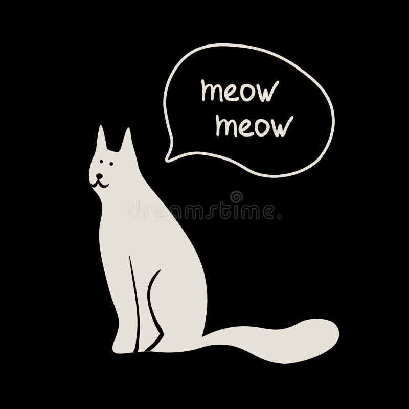 Concepto del vector con el gato lindo stock de ilustración