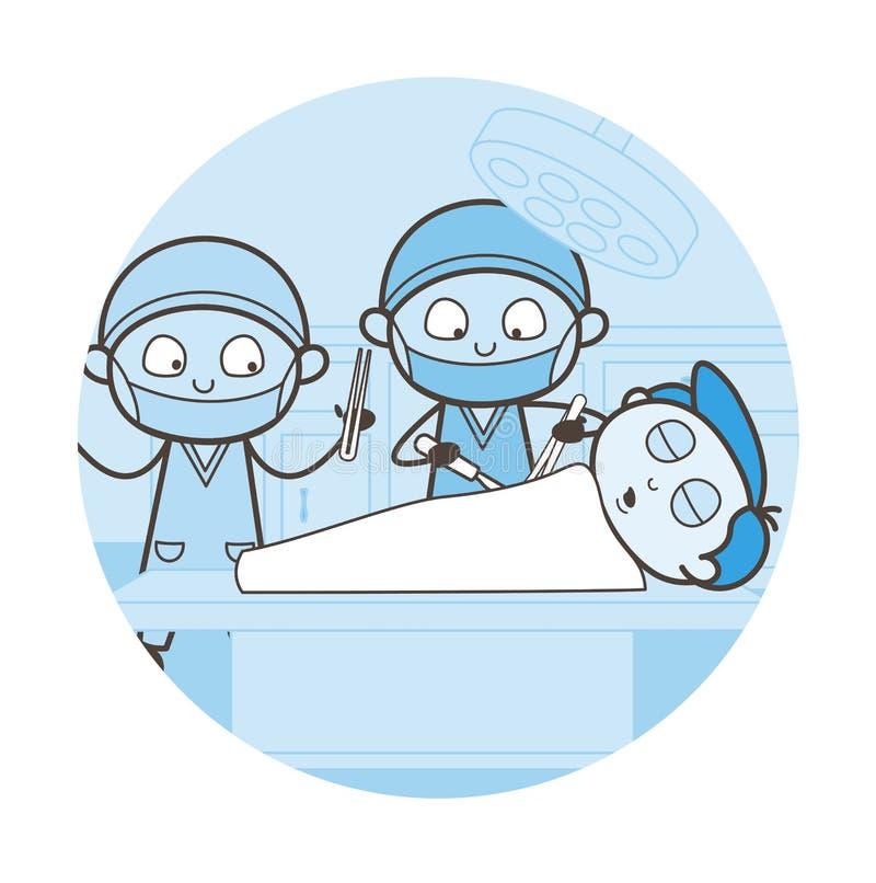 Concepto del vector de Doing Heart Surgery del cirujano ilustración del vector