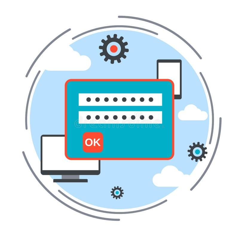 Concepto del vector de la seguridad informática ilustración del vector