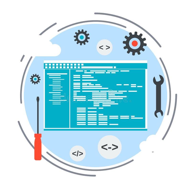 Concepto del vector del desarrollo de aplicaciones ilustración del vector