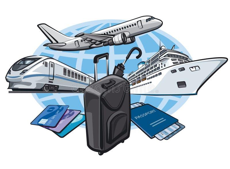 Concepto del viaje ilustración del vector