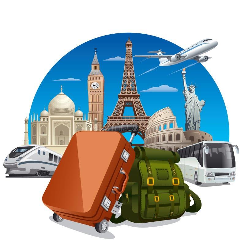 Concepto del viaje stock de ilustración