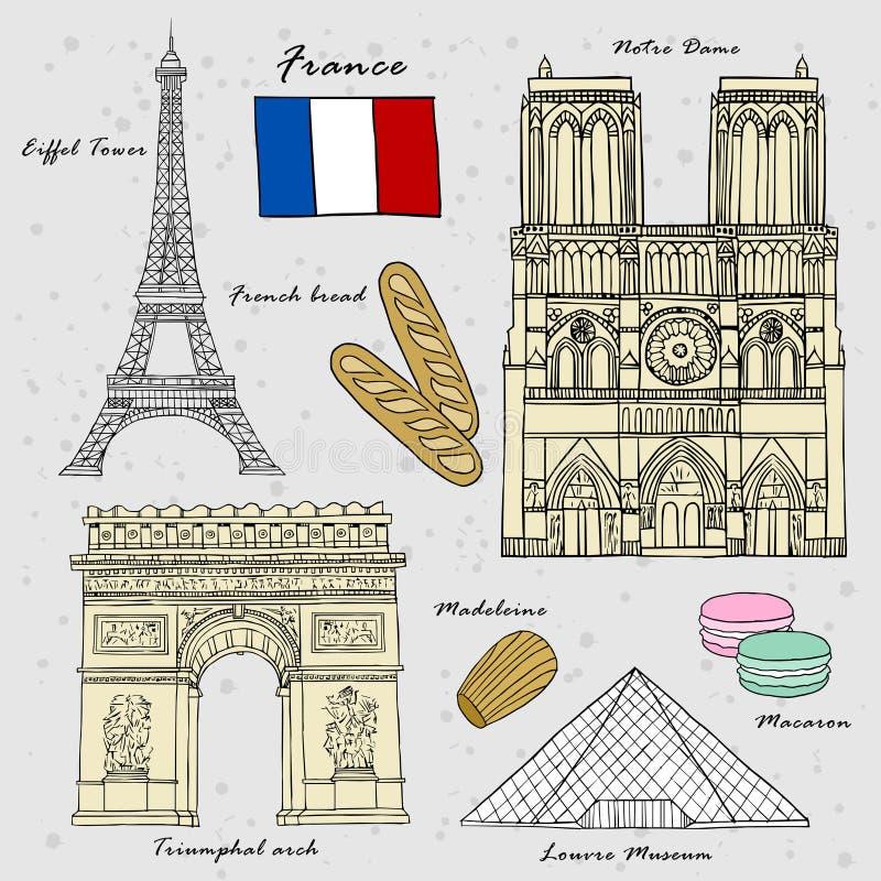 Concepto del viaje de Francia libre illustration