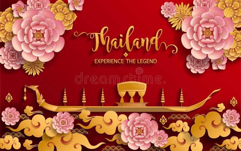 Concepto del viaje de Tailandia la mayoría de los lugares hermosos ilustración del vector