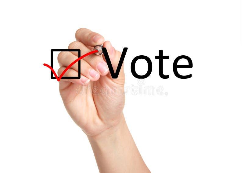 Concepto del voto imagen de archivo libre de regalías