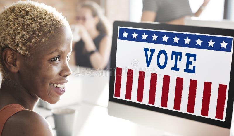 Concepto del voto de la democracia del referéndum del gobierno de la política imagen de archivo