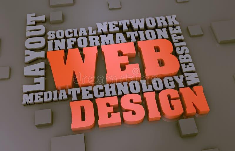 Concepto del Web ilustración del vector