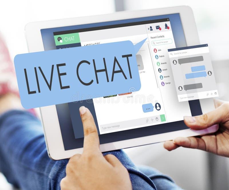 Concepto del web de Live Chat Chatting Communication Digital fotografía de archivo libre de regalías