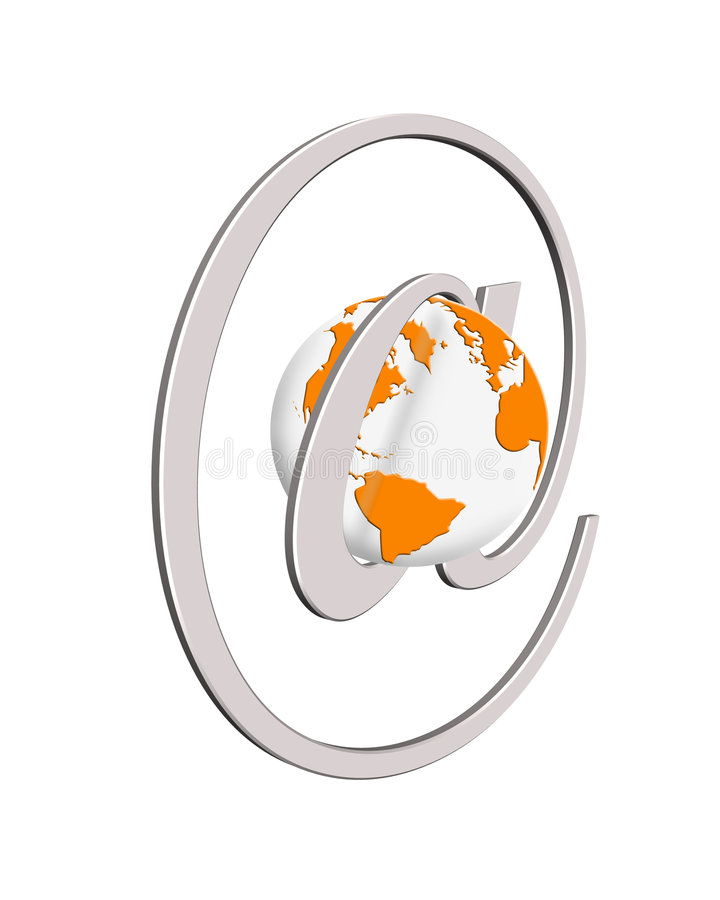 Concepto del World Wide Web stock de ilustración