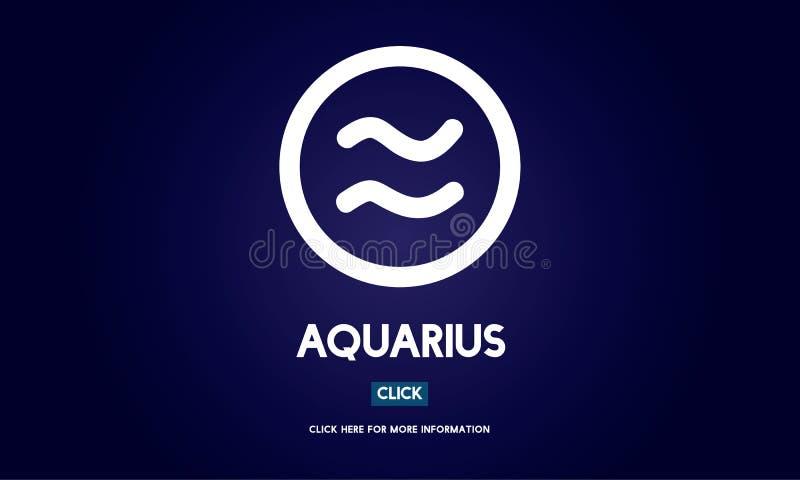 Concepto del zodiaco del horóscopo de la astrología del acuario ilustración del vector