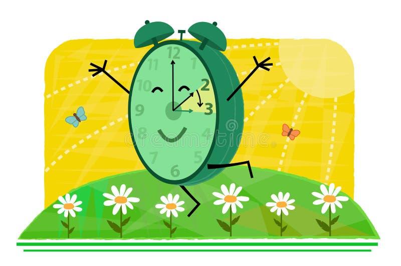 Concepto delantero del ahorro de luz del día de la primavera ilustración del vector