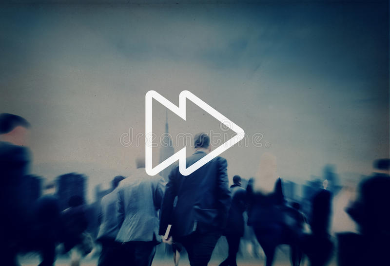 Concepto delantero rápido del audio de la música de las multimedias fotografía de archivo libre de regalías