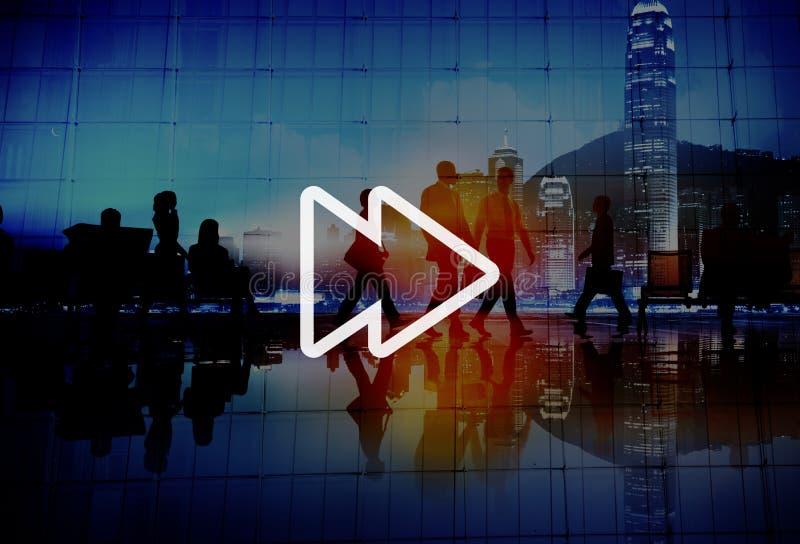 Concepto delantero rápido del audio de la música de las multimedias imagen de archivo libre de regalías