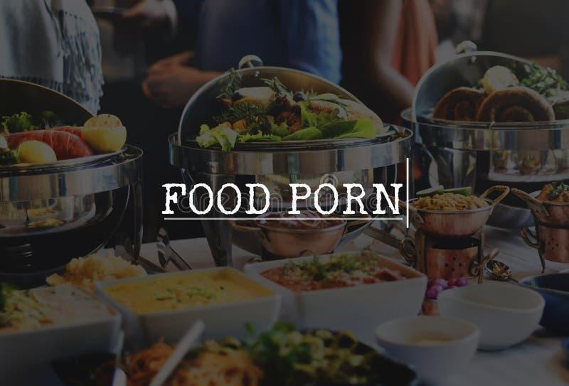Concepto delicioso de cena fino de la comida del almuerzo sano de la delicadeza foto de archivo