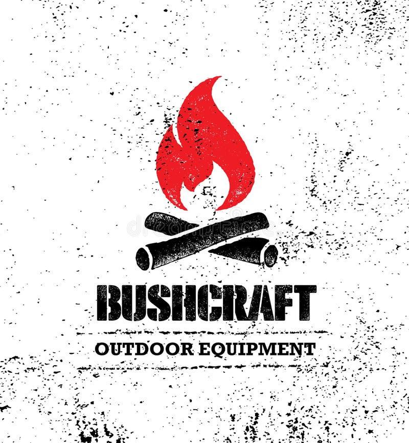 Concepto determinado de la muestra creativa de la motivación de Bushcraft del alza de la montaña de la aventura Diseño al aire li ilustración del vector