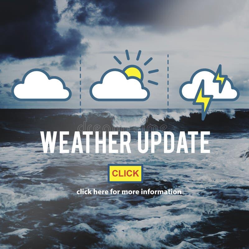 Concepto diario del clima de la predicción de la información de la actualización del tiempo imagen de archivo